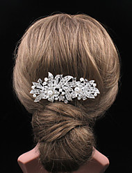 The Fashion Diamond Flowers Pearl Hairbrush