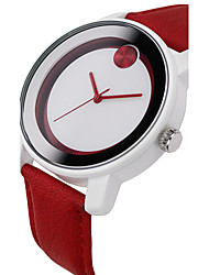 Fashion Brand Sinobi S8109 wristwatches Women's Fashionable Quartz Wrist Watch with Faux Leather Band (red)