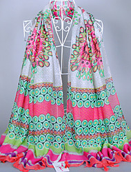 Women's Fashion Voile Colorful Scarf