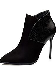 Damen-High Heels-Kleid-Wildleder-Stöckelabsatz-Komfort-Schwarz / Rot / Grau