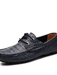 Men's Flats Spring Fall Rubber Casual Flat Heel Others Black Coffee Other