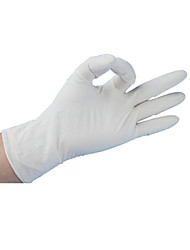 Wear Disposable Medical Rubber Examination Gloves  Size L  100 / Box