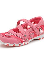 Girls' Sandals Comfort Tulle Summer Casual Walking Magic Tape Flat Heel Fuchsia Blushing Pink Flat