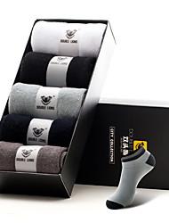 DOUBLE LIONS Men's Cotton Socks 5/box-MM0030