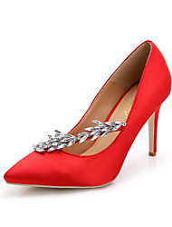 high heels Women's Shoes leather Pointed Toe Heels Wedding Party & Evening Dress Stiletto satin Heel  women pump