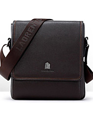 Men PU Office & Career Shoulder Bag Brown