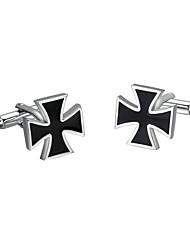 Cufflinks 2pcs,Color Block Black-White Fashionable Cufflink Men's Jewelry