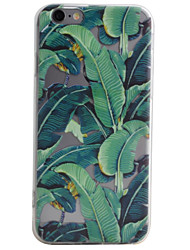 Leaf Pattern High Permeability TPU Material Phone Case For iPhone 6s 6Plus SE 5S 5