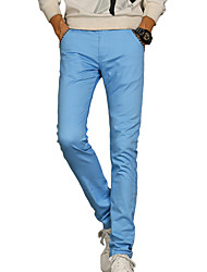 Men's Solid Casual / Work SuitsCotton / Spandex Black / Blue / Red / Gray MP-816
