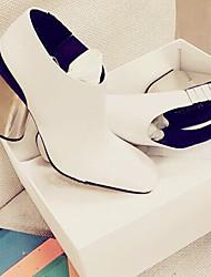 Damen-Sandalen-Lässig-Leder-Blockabsatz-Komfort-Weiß