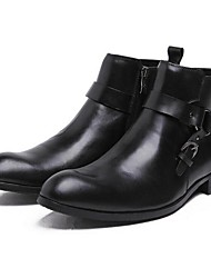 Men's Boots Spring / Summer / Fall / Winter Combat Boots Leather Outdoor Chunky Heel Others Black / Coffee Others