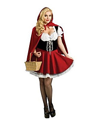 Costumes Movie & TV Theme Costumes Halloween Red Patchwork Terylene Dress