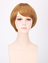 Fashion Short Straight Blonde Color Cosplay Synthetic Wigs