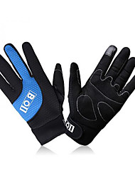 BOI Gloves Warm Fleece Full Finger Bike Bicycle Touch Mittens Winter Waterproof