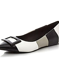 Women's Flats Spring Fall Flats Microfibre Outdoor Flat Heel Split Joint Pink Black and White Others
