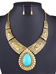Набор украшений Ожерелье / серьги Сексуальные платья Мода европейский Золотой Серебряный Ожерелья Серьги ДляСвадьба Для вечеринок