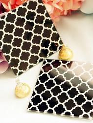 Beter Gifts Wedding dcor 2pcs Glass Coasters Patterns / Cheveron / Geometric / Bridesmaids / Bachelorette