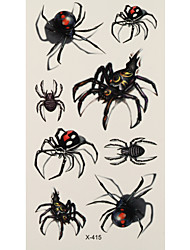 1 Tatouages Autocollants Séries animales spider flash Tattoo Tatouages ​​temporaires