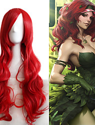Charming Red Allaring Centre Parting Wave 80cm Length Wig Lolita Cosplay Anime Harajuku Style Personality Wearing