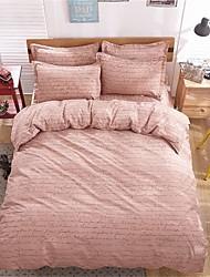 bedtoppings comforter edredão 4pcs colcha definidos palavras queen size folha plana fronha imprime microfibra