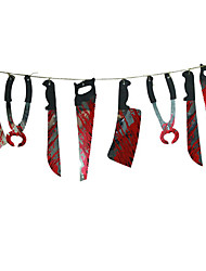 1 Set Spooky Halloween Party Haunted House Hanging Garland Pennant Banner Decoration