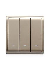 ouro champagne três aberto single - controle do interruptor e8233l1f_wg