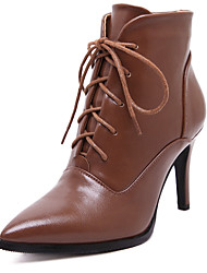 Women's Boots Fashion Lace-Up Bootie/Combat Boots Pointed Toe / Outdoor / Dress / Casual Stiletto Heel Boots