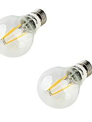 YouOKLight 2PCS E27 4xCOB 4W 400LM 3000K Warm White Globe Bulbs Edison  LED Filament Light(85-265v)