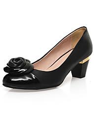 Women's Shoes leather high  Heels flower pump Wedding Party & Evening Dress Stiletto Heel black women pump