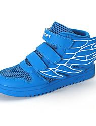 Unisexe-Sport-Bleu Blanc-Talon PlatBaskets-Tulle