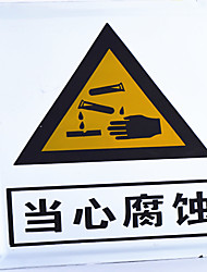 Professional Custom Luminous Signs Indicating Beware Of Corrosion Safety Signs Warning Signs Prohibiting