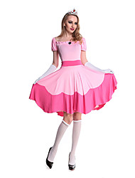 Costumes Movie & TV Theme Costumes Halloween Pink Solid Terylene Dress / More Accessories