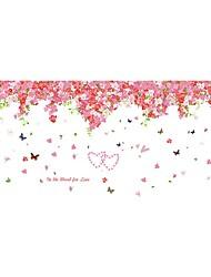 Romance / Floral / Paysage Stickers muraux Stickers avion Stickers muraux décoratifs / Stickers de Mesure,PVC MatérielLavable / Amovible