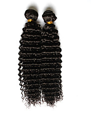 Brazilian Virgin Hair 2pcs Kinky Curly Virgin Hair Brazillian Human Hair Weave Bundles Curly Deep Wave