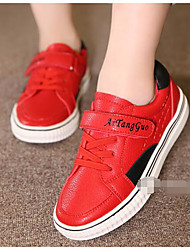 Unisex Sneakers Spring Summer Fall Customized Materials Casual Flat Heel Lace-up Black Red White Other