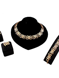 MOGE Ms. European And American Fashion Jewelry Sets / Necklace / Earrings / Ring / Bracelet