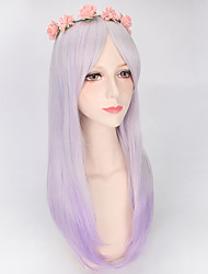 Highlight Purple Ombre Two Tone Lolita Fashion Daily Weaing Natural Looking Hight Quality Synthetic Wigs Girls Gift
