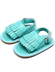 Unisex Sandals Leather Casual Flat Heel TasselBlack / Blue / Yellow / Green / Pink / Red / White / Gold / Light Green /
