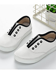 Girl's Sneakers Spring / Fall Closed Toe Leatherette Outdoor / Athletic Flat Heel Others Black / White Others