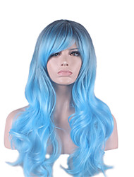 Europe And The United States The New COS Wig Cool Blue Gem 28 Inch Long Hair Wigs