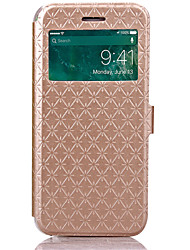 KARZEA Diamond Pattern TPU and PU Leather Case with Stand for Apple iPhone7/iPhone 7 Plus