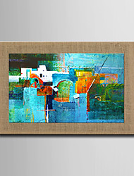 Modern Wall Art Abstract Oil Painting  Hand Painted On Natural Linen With Stretched Frame For Living Room