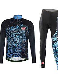 Sports Cycling Jersey with Tights Men's Long Sleeve BikeBreathable / Thermal / Warm / Wearable / Comfortable / 3D Pad / Ultra Light