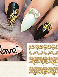 Fashion Gilding 3D lacework  Nail Stickers