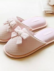 Women's Slippers & Flip-Flops Spring Summer Fall Comfort Cotton Casual Flat Heel Bowknot Pink Others