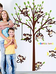 Animaux Stickers muraux Stickers avion Stickers muraux décoratifs / Stickers de Mesure,PVC Matériel Lavable / AmovibleDécoration