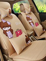 senhoras Moda dos desenhos animados de conforto do assento de carro almofada do assento de linho almofada meninas