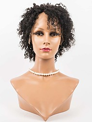 Human Hair Lace Wigs Lace Front Kinky Curl Wigs For Women