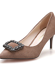 Women's Heels Fall Comfort Fleece Casual Stiletto Heel Others Black / Green / Burgundy / Khaki Others