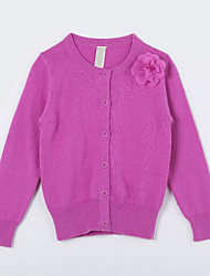 Girl's Casual/Daily Solid Sweater & CardiganCotton Fall Purple